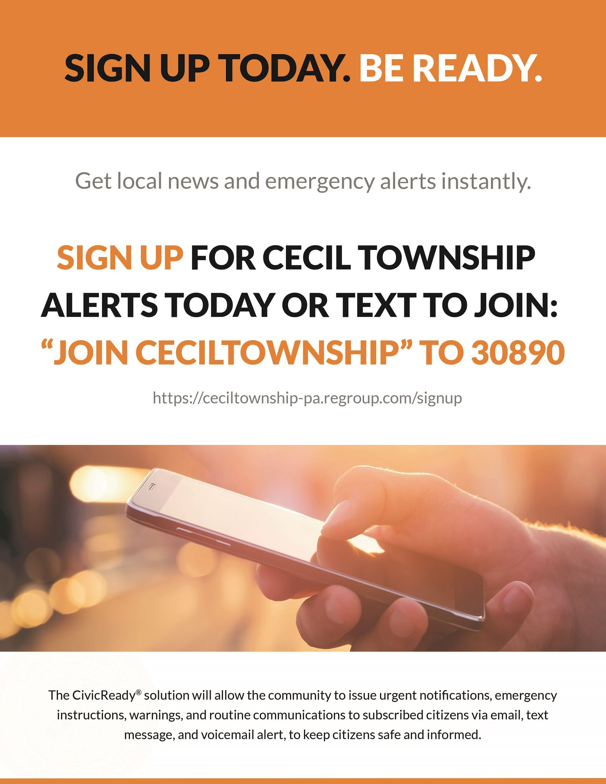 PA - Cecil Township - Flyer